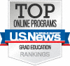 Top online programs US News Grad education rankings