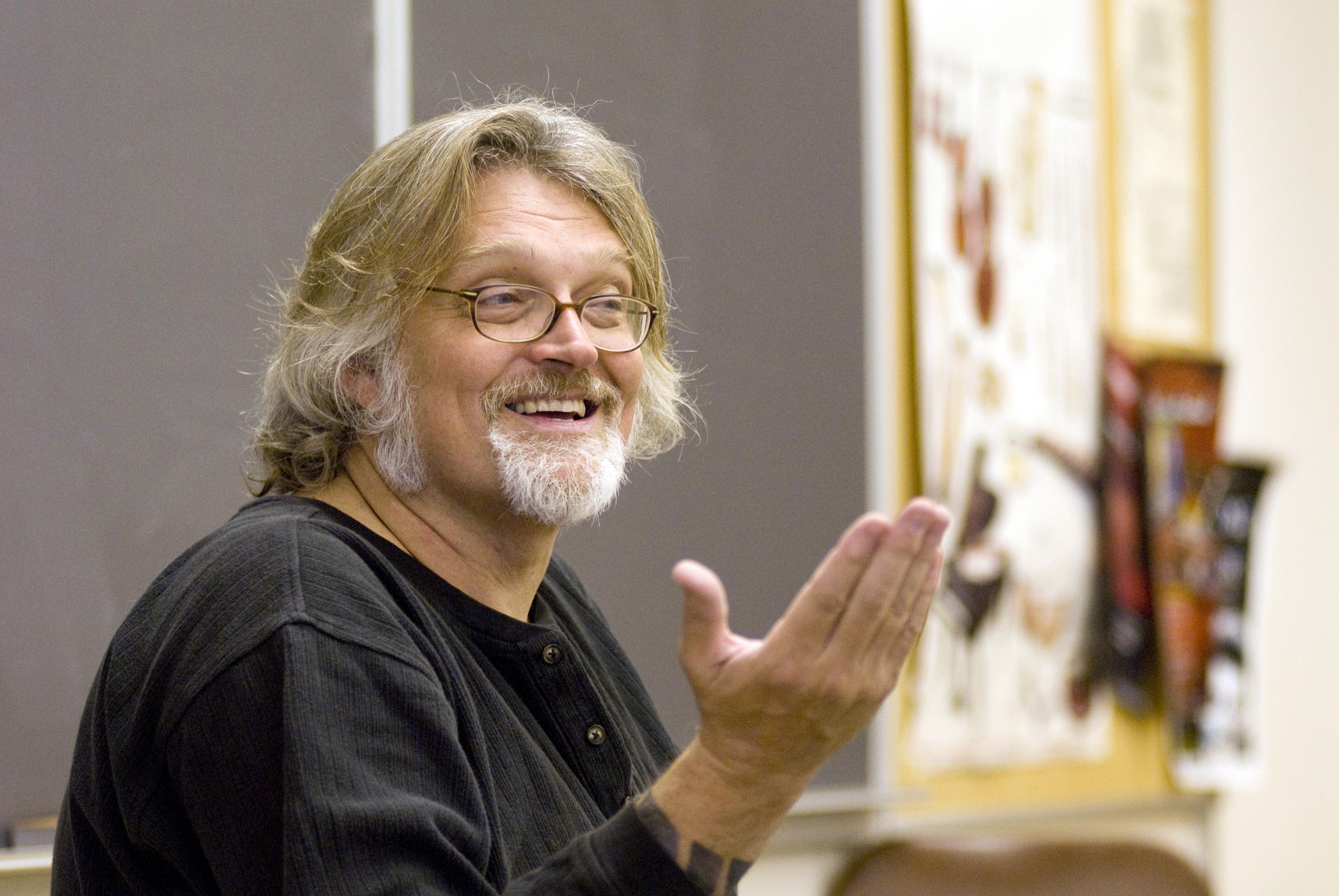 Bill Bastian leading chorus class.