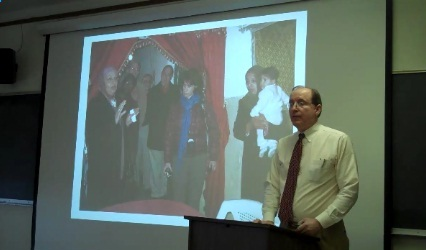 Dr. Campbell's presentation included numerous photographs of people and places in Jordan.