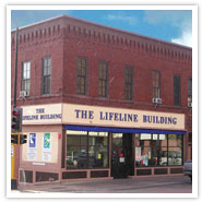 The Lifehouse Building is located on West First Street in Duluth. 