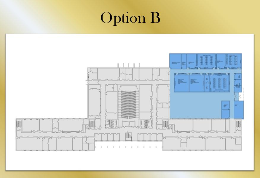 Architect's drawing of Option B.