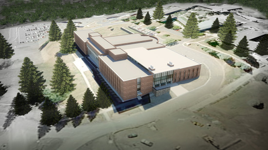 An artists's rendering of the proposed science building