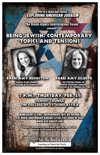 Rabbi Amy Bernstein and Rabbi Amy Eilberg