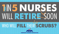 1 in 5 nurses will retire soon. Who will fill their scrubs? View article.