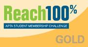 Reach 100% APTA student membership challenge - GOLD