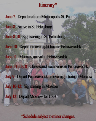 Russia Tour Schedule