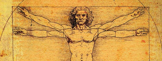 Image of Da Vinci's Vitruvian Man of math