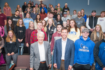 Scott and Bill Burns with students