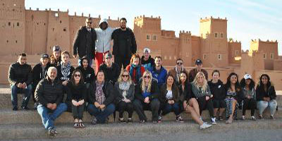 CSS students and leaders on a trip to Morocco