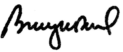President Barbara McDonald signature