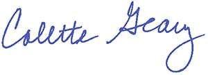 President Colette Geary signature