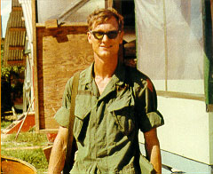 Larry Goodwin as a solider