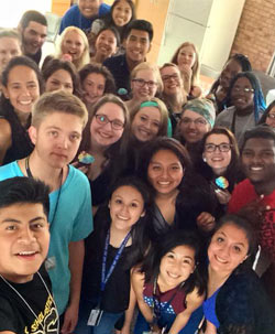Group photo during Multicultural Leadership Orientation