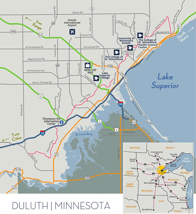 Duluth regional map
