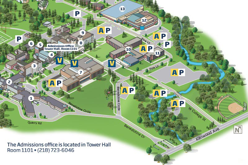 Parking map for the Duluth Campus