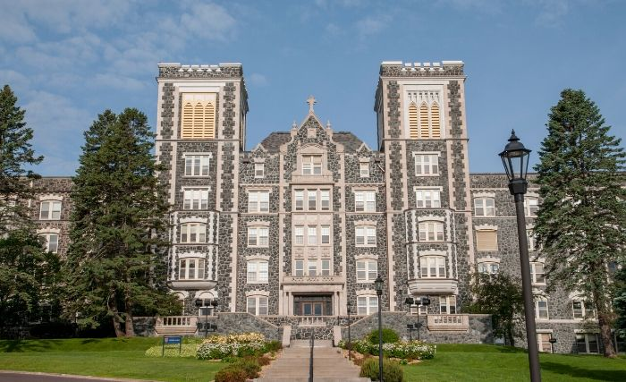 Tower Hall on the Duluth campus of St. Scholastica