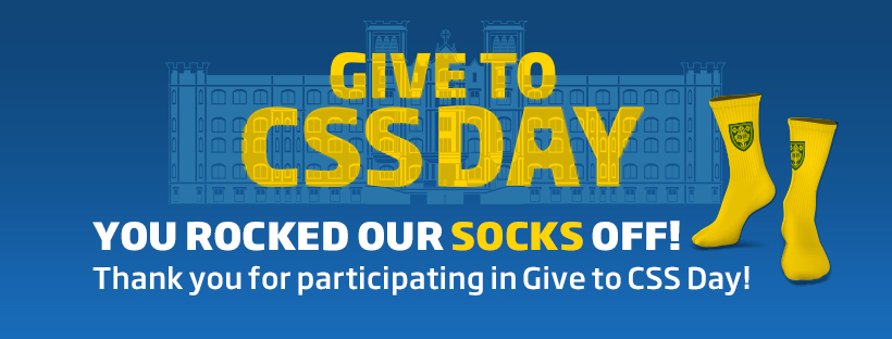 Give to CSS Day You Knocked our Socks Off graphic