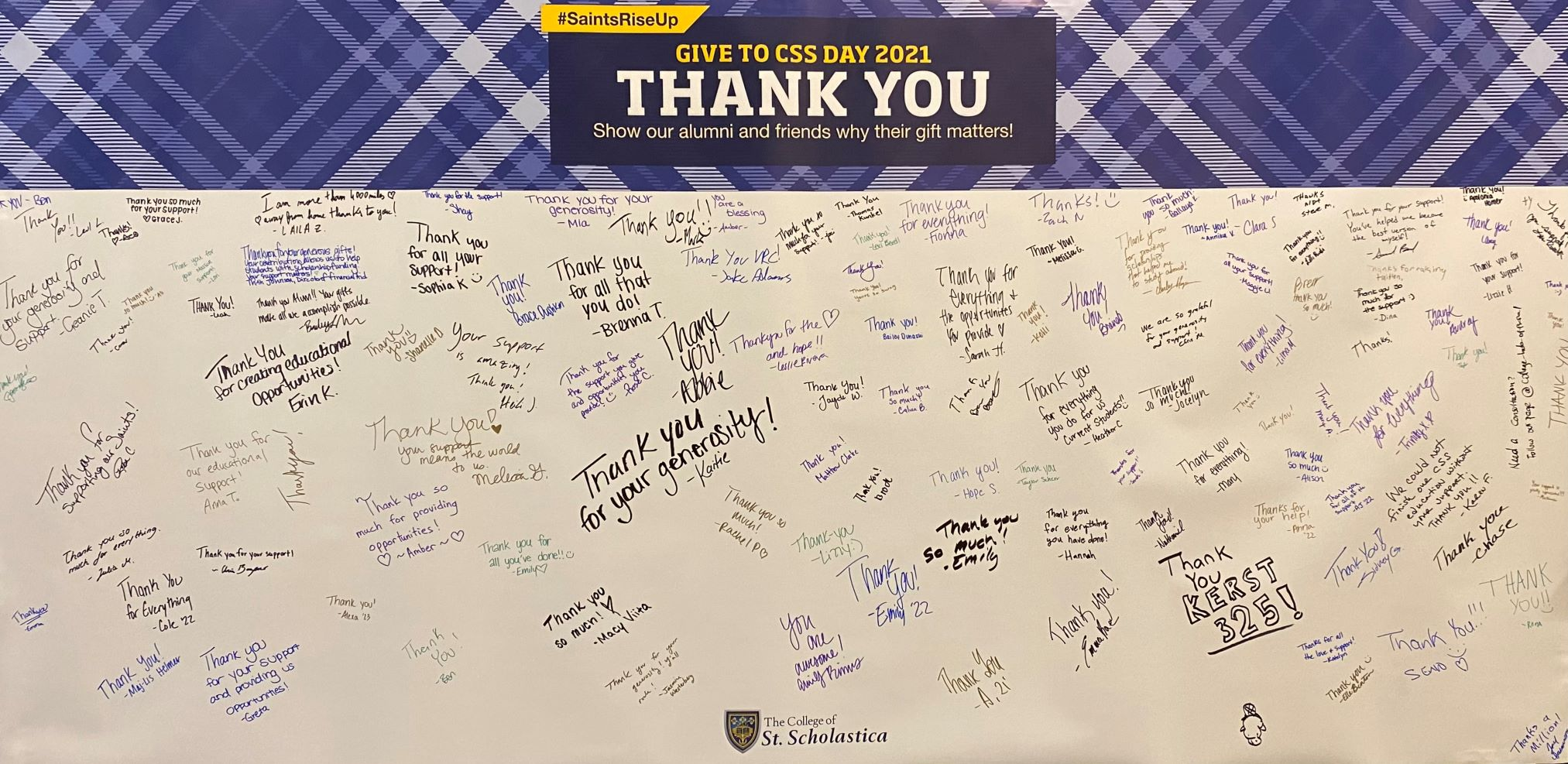 Give to CSS Day Signed Thank You Card