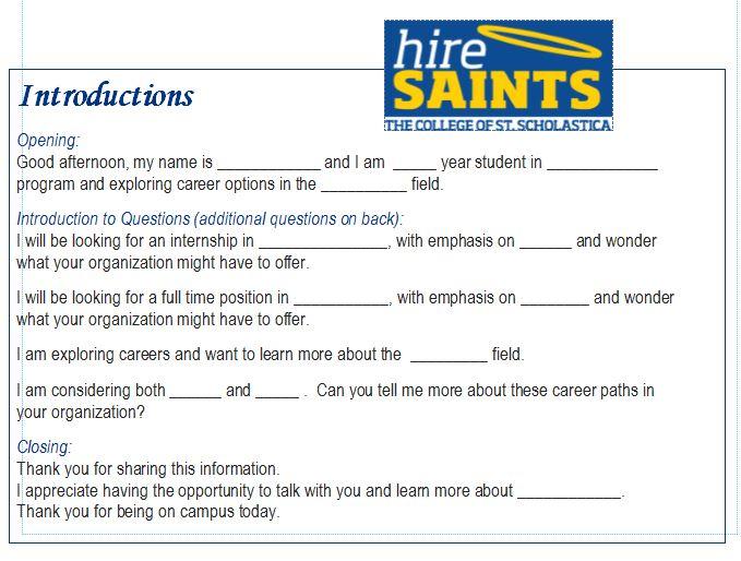 Preparing for Job Fairs