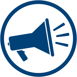 Megaphone Icon - indicating communication