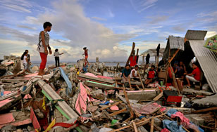 Typhoon Haiyan has affected more than 13 million people.