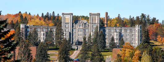 Front view of Tower Hall at the College's Duluth Campus