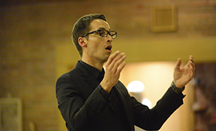 Bret Amundson, director of Choral Activities