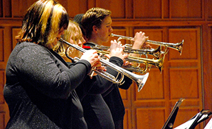 File photo of St. Scholastica concert band.