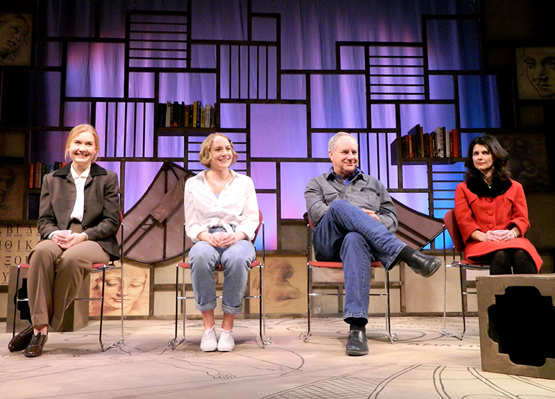 """The cast of """"Eleemosynary"""" with special guest, playwright Lee Blessing"""