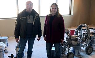 Director of facilities Tom Brekke and St. Cloud campus site director Katie Wayne