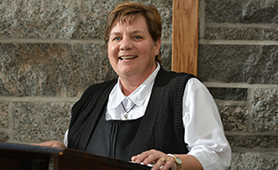 Sister Lisa Maurer in the Oratory