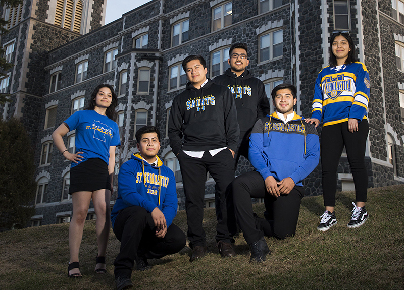 L-R: Lidia Angeles-Cruz, Josue Chino-Cruz, Jason Chavez-Cruz, Allen Cruz, Bryan Chavez-Cruz and Chantell Armijo-Cruz.