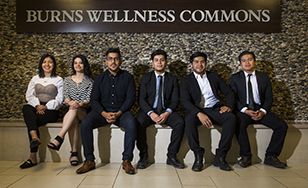 L-R: Chantell Armijo-Cruz, Lidia Angeles-Cruz, Allen Cruz, Josue Chino-Cruz, Bryan Chavez-Cruz and Jason Chavez-Cruz.