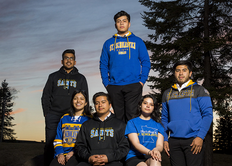 Clockwise from left: Allen Cruz, Josue Chino-Cruz, Bryan Chavez-Cruz, Lidia Angeles-Cruz, Jason Chavez-Cruz and Chanty Armijo-Cruz.