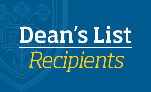 Dean's List Recipients