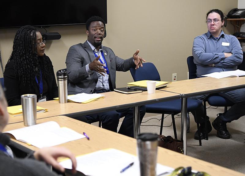 "Dr. Glenn E. Simmons Jr., Assistant Professor at the  UMD Medical School, speaks during a breakout session, ""Cross-Cultural Concerns Surrounding Men's Health."""
