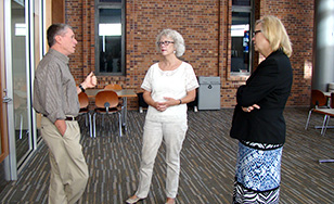 U.S. Army Brigadier Gen. William Bester, Marty Witrak and Julie Anderson.