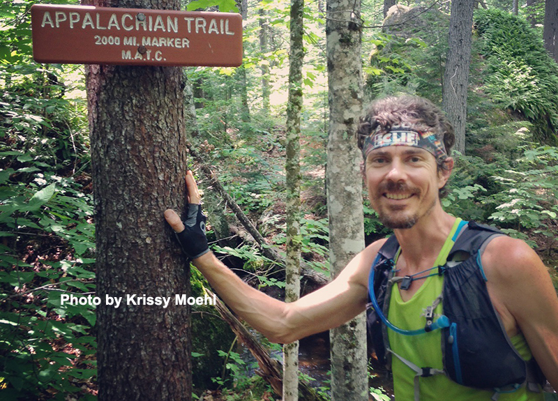 Scott Jurek on the Appalachian Trail. Photo by Krissy Moehl