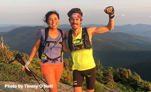 Jenny and Scott Jurek in Maine. Photo by Timmy O'Neill