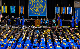 Candidates for graduation at the Spring 2019 Commencement ceremony