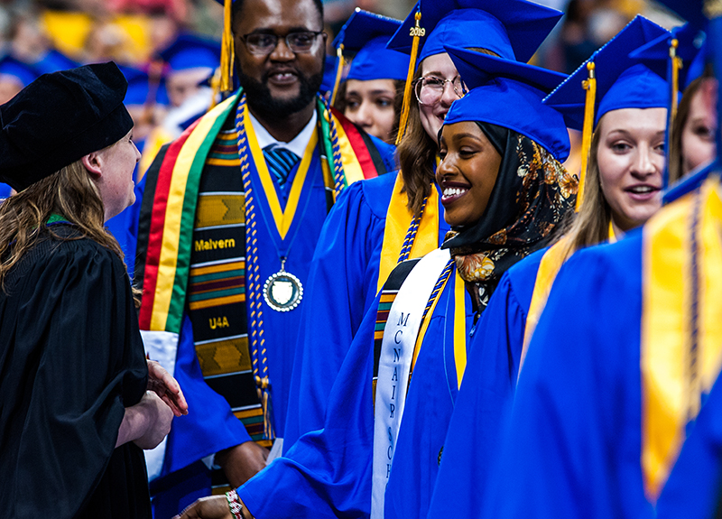 Nafisa Ibrahim at commencement