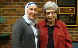 Najah Bazzy and Sister Beverly Horn