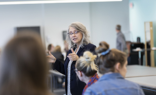 Assistant Professor of Occupational Therapy Christine McConnell in class