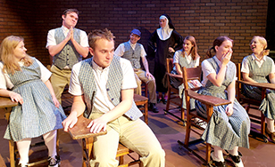 Sister Helen (Abbilyn Primus) and the kids (Ally Girard, Nick Aspin, Theodore Carlson Webster, Mitchell Gertken, Sydney Hennes, Grace Brinkert, Jemma Provance)
