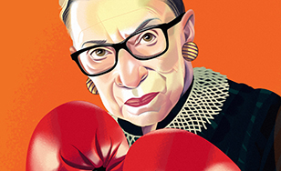 Illustration of Ruth Bader Ginsburg