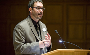 Ryan Sandefer, chairman and assistant professor for the Department of HIIM, at last year's event.