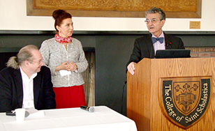SEAM practitioners John Conbere, Alla Heorhiadi and Henri Savall at last year's conference.