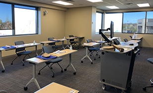 A newly renovated classroom on the St. Cloud campus.