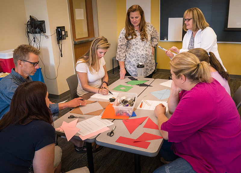 Local math teachers learned about tactics to increase student engagement during a weeklong workshop at St. Scholastica.