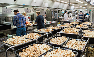 File photo of Thanksgiving Buffet volunteers at work